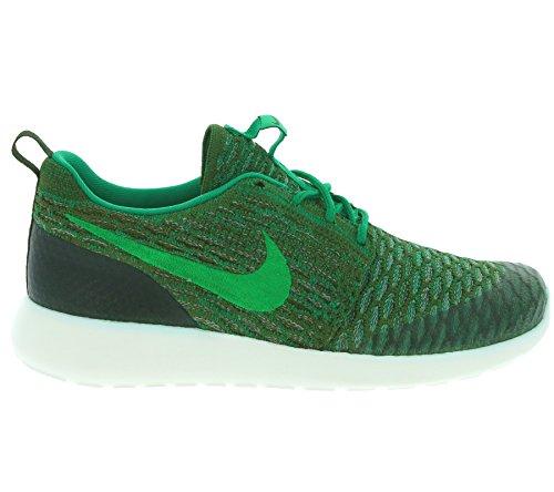 Nike Frauen Roshe One Flyknit Laufschuhe Rough Green / Lucid Green- Segel