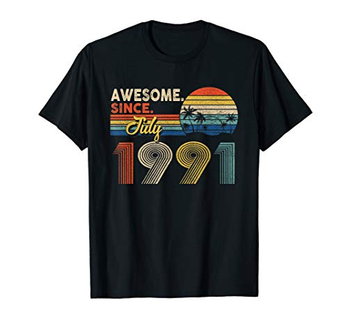 Awesome Since July 1991 28th Birthday Gifts 28 Years Old