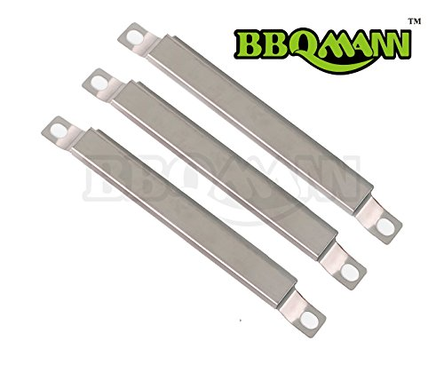 (BBQMANN AF593(3-pack) Stainless Steel Crossover Tube Burner for Gas Grill Models By Centro, Charbroil and Others)
