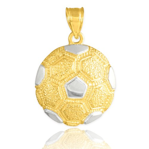 Sports Charms 10k Two-Tone Gold Textured Soccer Ball -