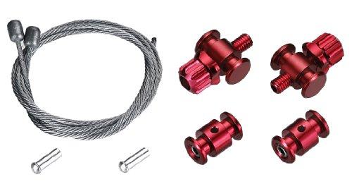 TRP EuroX Barrel Adjuster Kit, Red (Best Cx Cantilever Brakes)