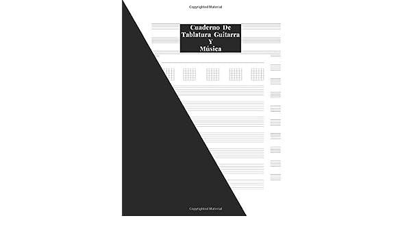 Cuaderno De Tablatura Guitarra Y Música: Papel Combinado Para ...