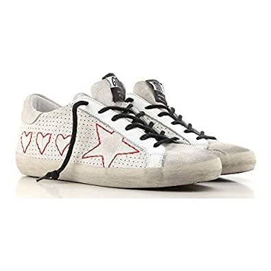 Golden Goose Deluxe Brand Superstar 3 Hearts 1 Star Women Sneakers G32WS590.G28 Size 38 (7 US)