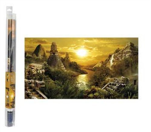 Hydor H2Show Lost Civilization Background with Application Gel for Aquariums 31.5x15.75 B00211