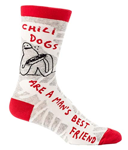 Blue Q Mens Chili Dogs Socks 7-12 Multi (Best Chili For Chili Dogs)