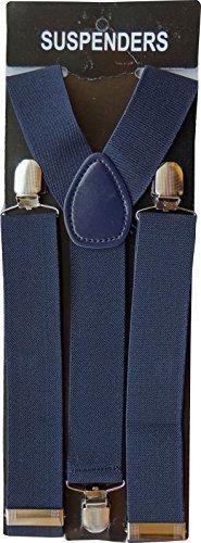 Hommes 50mm Large Bretelles Réglables Jarretelle Élastique dans la marine par Parage Boutique