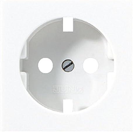 alpinweiß 10 Stück Jung  Zentralplatte für Schuko-Steckdosen A520WWPL