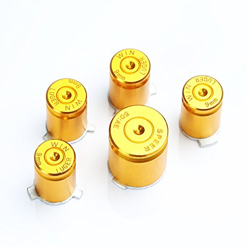 MassMall Pro Chrome Aluminum Bullet Xbox 360 Controller Buttons Parts Mod Set Kit (Controller Buttons Bullets Xbox)