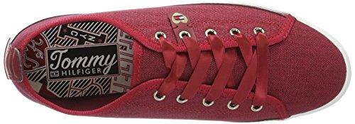 Tommy Hilfiger K1285eira Hg 1d1, Zapatillas para Mujer Rojo (Scooter Red 614)