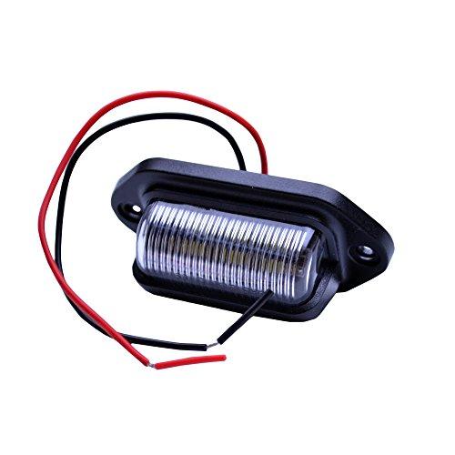 FLYPIG NEW LED LICENSE PLATE TAG LIGHT BLACK BOAT TRAILER RV TRUCK INTERIOR STEP LIGHT