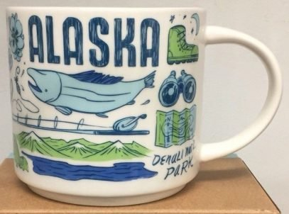 Alaska Mug - Starbucks ALASKA Been There Series Across the Globe Collection Coffee  Mug 14 Ounce
