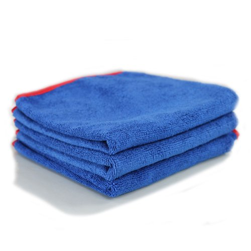 Chemical Guys MIC_998_3 Fluffer Miracle Supra Mircofiber Towel, Blue (24 in. x 16 in.) (Pack of 3)