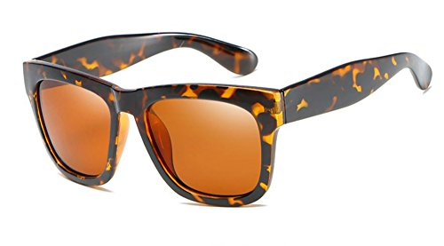 Freckles Mark Retro Vintage Wayfarer Polarized Sunglasses for Men and Women (Tortoise Brown, - Shell Turtle Wayfarer