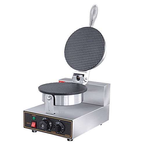 - Robbey 1200W Electric Ice Cream Waffle Cone Maker Machine Stainless Steel Nonstick Surface Easy to Clean and Fast Baking with Cone Roller for Home Commercial Use, Diameter 8.3 In