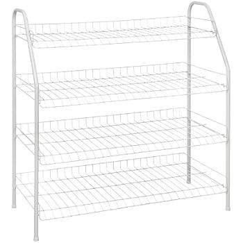 Genial ClosetMaid 8131 4 Tier Freestanding Shoe Rack, White