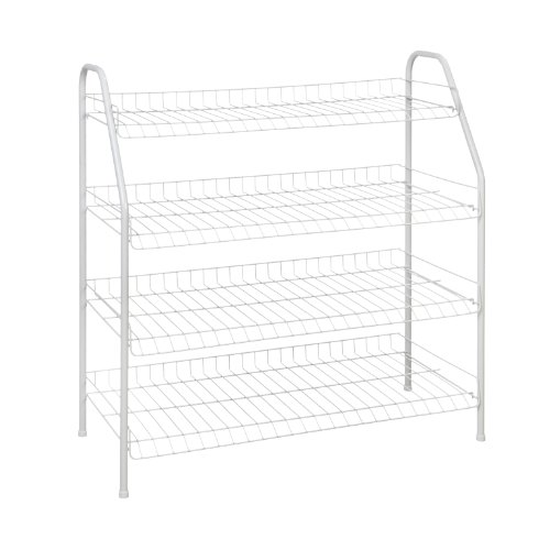 ClosetMaid 8131 4-Tier Freestanding Shoe Rack, White by ClosetMaid