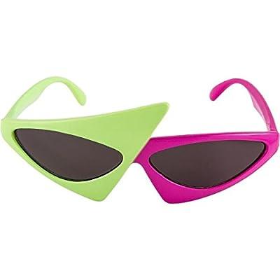 amscan 2-Color Asymmetric Glasses 5.6