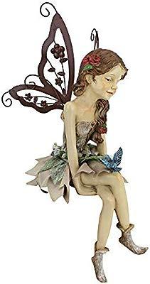 Garden Fairies Fairy Statue Statuary Faerie Sculpture Figurine Yard Art Ornament