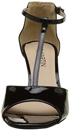 Jb Martin 1bougie, Sandalias con Tira a T para Mujer Noir (Veau Vernis Noir)