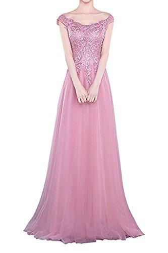 Rosa Glamour Linie Ballkleider Rock La mia A Festlichkleider Brautmutterkleider Abendkleider Spitze Langes Braut qwxTxgEv17