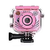 UMei Kids Camera Video Camera 1080P Digital Camera HD Waterproof Child Camcorders Mini Kid Toys Gift Pink