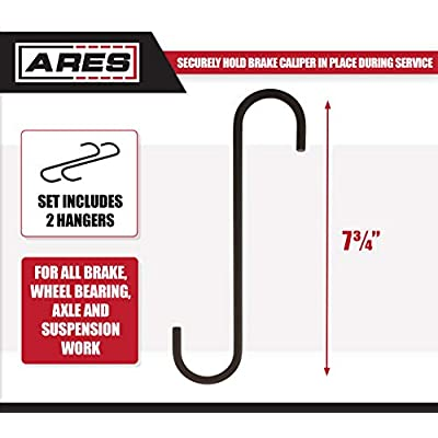 ARES 71119 - Caliper Hanger Set - Easily Restrain Brake Calipers and Reduce Possible Damage to Brake Hoses: Automotive