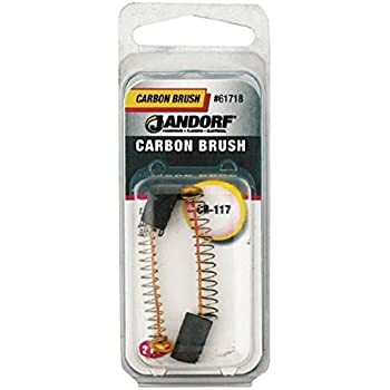 Jandorf CB210, 5/8 in L X 3/8 in W X 3/16 in Thick, Carbon Manufacturers Direct 61721 1 Pack Motor Brush Car Care