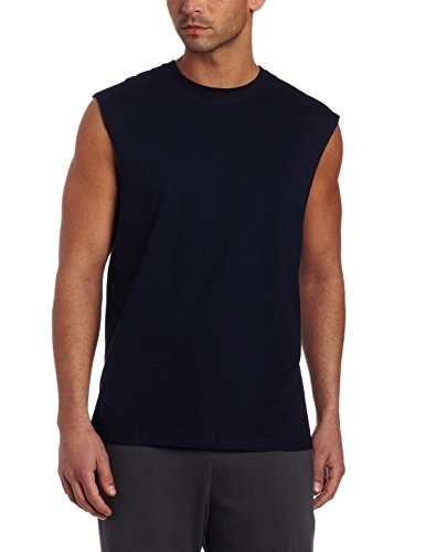 Cotton Performance Muscle Shirt (Russell Athletic Men's Basic Cotton Muscle T-Shirt, Navy, Small)
