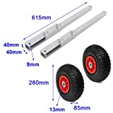 Boat Transom Launching Wheels Dolly for Inflatable