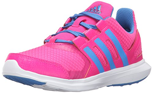 Price comparison product image adidas Performance Girls' Hyperfast 2.0 k Running Shoe, Shock Pink/Ray Blue/White, 11 M US Little Kid