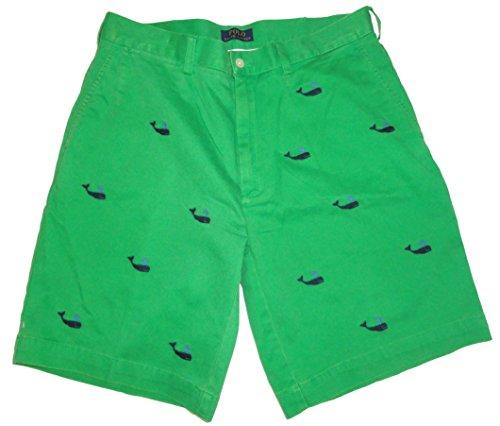 Polo by Ralph Lauren Mens Whale Logo Shorts Green (32) (Khaki Green Ralph Lauren)