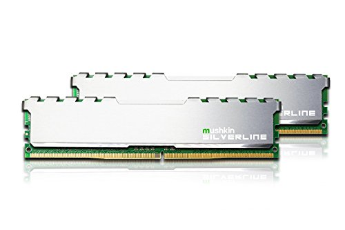 Mushkin SILVERLINE Series - DDR4 Desktop DRAM - 16GB (2x8GB) Memory Kit DIMM - 2133MHz (PC4-17000) CL-15 - 288-pin 1.2V RAM - Non-ECC - Dual-Channel - Stiletto V2 Silver Heatsink - (MSL4U213FF8GX2)