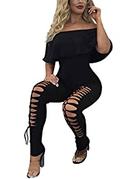 Shoulder Sleeve Hollow Out Sexy Women Bodycon Long...
