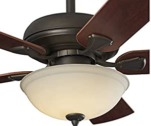 52 Inch LED Ceiling Fan with Nutmeg Espresso Blades and