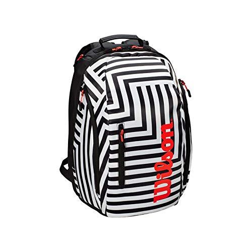 Wilson Super Tour Bold Tennis Backpack (Black/White)