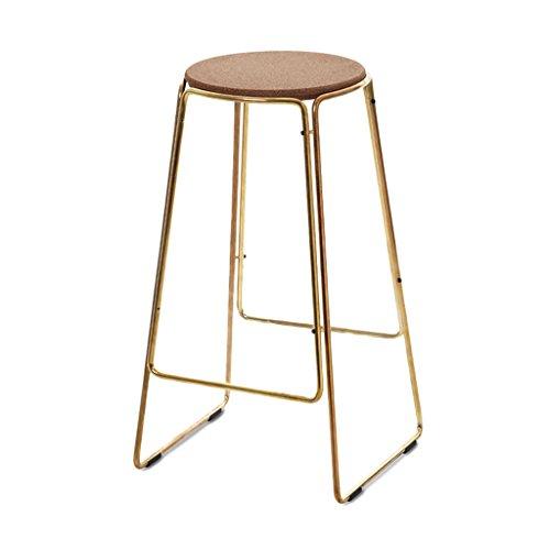 BJLWTQ Fashion European Bar Scoop Stool Combination Bar Outdoor Iron Retro Stool Bar Chair High Stool (Color : A)