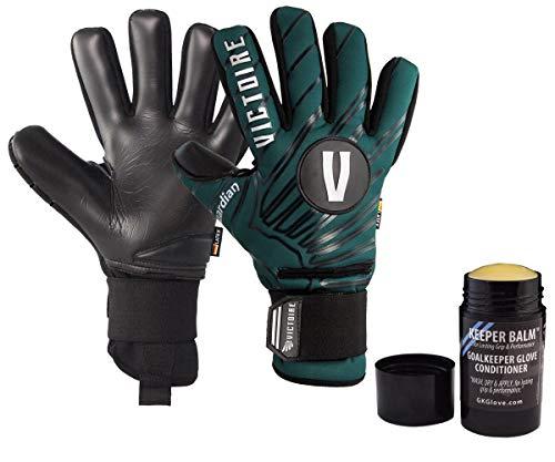 - Victoire Guardian PRO, Neoprene Goalkeeper Gloves with Zero-Tolerance Fingersaves, Negative Cut (Black, Green, Blue, Red, Gray) 30 Day Guarantee, Soccer (Green, 7)