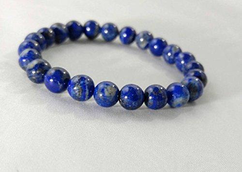 Premium Smooth Lapis Lazuli Beaded Gemstone Bracelet