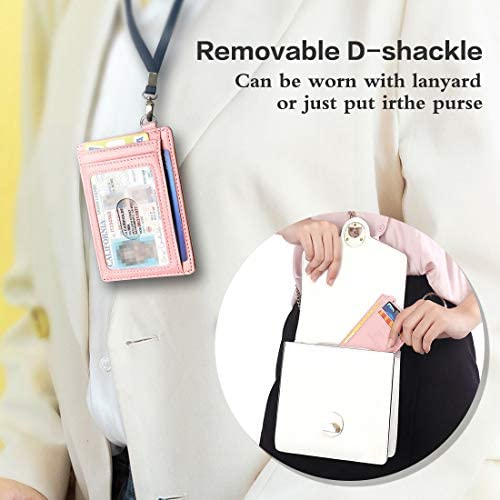 Slim Minimalist Front Pocket RFID Blocking Wallets Credit Card Holder with DShackle for Men Women