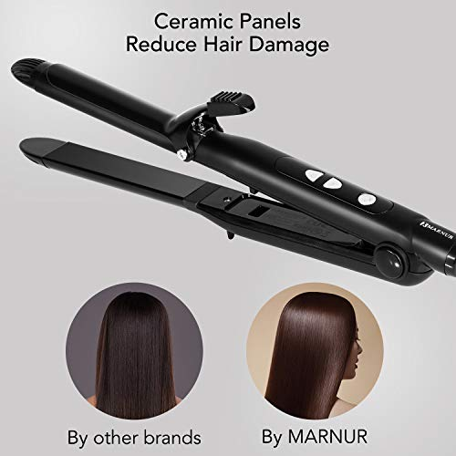 Amazon.com: Ceramic Flat Iron Titanium Hair Straightener 2 in 1 Curling Iron Styling Wand Hair Curler with Adjustable Temperature Ceramic Coating Fast ...