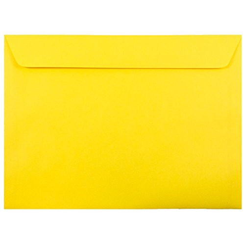 JAM Paper 9'' x 12'' Booklet Envelopes - Brite Hue Yellow Recycled - 250/pack by JAM Paper