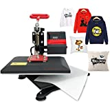 "9"" X 12"" Heat Press Printing Swing Away Transfer Sublimation Heat Press Machine for T-Shirt Teflon Sheet Included Bosstop"