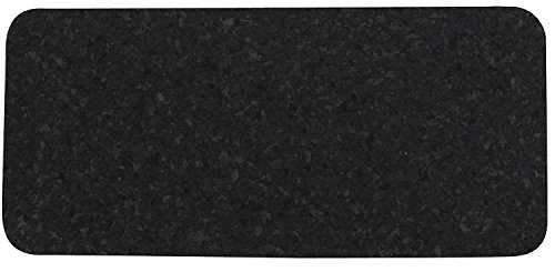 Rubber Recycled Placemat - ORE Pet Skinny Recycled Rubber Rectangle Pet Placemat - Black