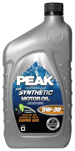 Peak PEK12031 5W30 Full Synthetic Motor Oil - 1 Quart Bottle, (Pack of 6)