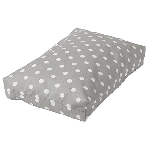 Crate Covers and More Rectangular Dog Bed Set 30, Grey Polka Dot