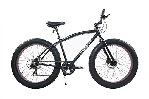 "Corsa Alton Mammoth 26"" Wheel 7-Speed Alloy Frame Bike, Black, 18""/Small"