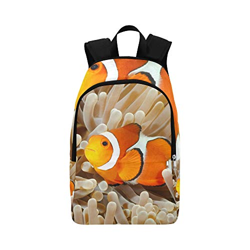 (APJDFNKL Clown Fish Anemone and Clown Casual Daypack Travel Bag College School Backpack for Mens and Women)
