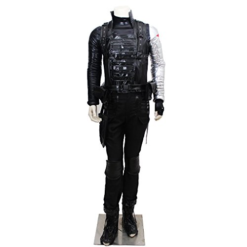 CosplayDiy Men's Suit for Captain America The Winter Soldier Barnes Cosplay L ()