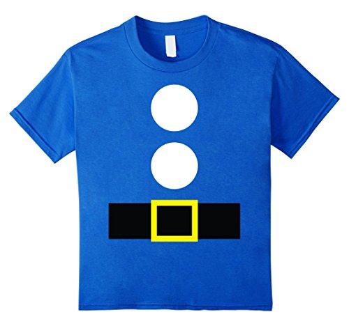 [Kids Halloween Dwarf Theme Party DIY Costume Shirt Teacher Team 12 Royal Blue] (Statue Halloween Costume Ideas)