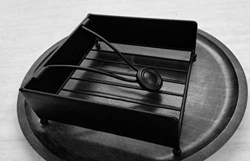 "Circleware 00735 Black Metal Napkin Holder 7.25"" L x 7"" D x"